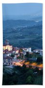 Medieval Hilltop Village Of Smartno Brda Slovenia At Dusk With S Bath Towel