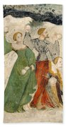 Medieval Snowball Fight Bath Towel