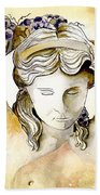 Meditrina Goddess Of Wine Bath Towel