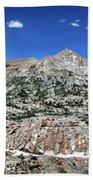 Medley Lake Basin Panorama From High Above - Sierra Bath Towel