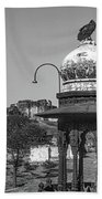 Mehrangarh Fort - Approach With Caution Bw Bath Towel