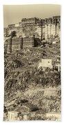 Mehrangarh Fort Sepia Bath Towel