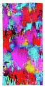 Melting Flowers Abstract  Bath Towel