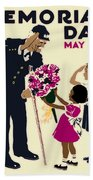 Memorial Day Poster Wpa Bath Towel