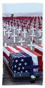 Memorial Day Remembrance At The Beach Bath Towel
