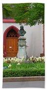 Memorial Of Jp Hebel At Peterskirche In Basel Switzerland Bath Towel