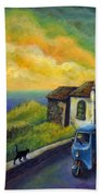 Memories Neath A Yellow Sky Bath Towel