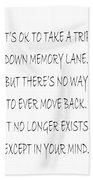 Memory Lane Poem Hand Towel