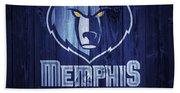 Memphis Grizzlies Barn Door Hand Towel