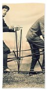 Men On Dual Bicycle, Cca 1900 Hand Towel