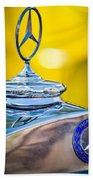 Mercedes-benz Hood Ornament - Emblem -0961c Bath Towel