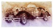 Mercedes-benz Ssk 2 - 1928 - Automotive Art - Car Posters Hand Towel