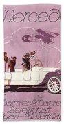 Mercedes Daimler C. 1910 Bath Towel