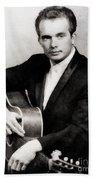 Merle Haggard, Music Legend By John Springfield Bath Towel