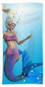 Mermaid In Aqua Bath Towel