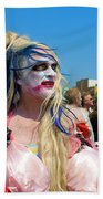 Mermaid Parade Man In Coney Island Bath Towel