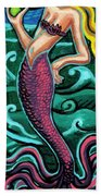 Mermaid With Pearl Bath Towel