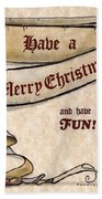 Merry Christmas Elves Bath Towel
