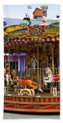 Merry-go-round At The Prater Bath Towel