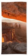 Mesa Arch Sunrise 5 - Canyonlands National Park - Moab Utah Bath Towel