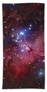 Messier 16, The Eagle Nebula In Serpens Hand Towel