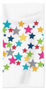 Messy Stars- Shirt Bath Towel by Linda Woods