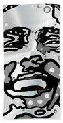 Metal Face 2 Bath Towel by Darren Cannell
