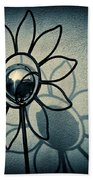 Metal Flower Hand Towel