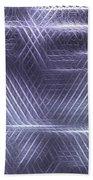 Metallic Cross Pattern  Bath Towel