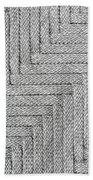 Metallic Grey Rope Weaved Pattern Bath Towel