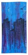 Metropolis In Blue Hand Towel
