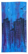 Metropolis In Blue Bath Towel