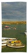 Mevagissey Outer Harbour Bath Towel