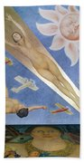 Mexican Mural Painting Bath Towel