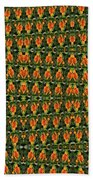 Mexican Poppy Field Abstract Bath Towel