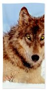 Mexican Wolf Painting Hand Towel