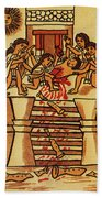 Mexico: Aztec Sacrifice Bath Towel