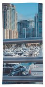 Miami Marina Hand Towel