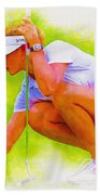 Michelle Wie Of Usa Lined Her Ball Bath Towel