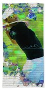 Michelle Wie Street Art Bath Towel