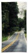 Michigan Rural Roadway In September Bath Towel