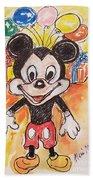 Mickey Mouse 90th Birthday Celebration Bath Towel