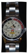 Mickey Mouse Watch Bath Towel