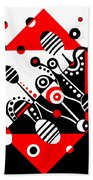 Microgravity - Red And Black Hand Towel
