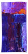 Midnight Glow Abstract Hand Towel