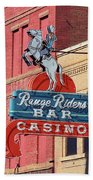 Miles City, Montana - Downtown Casino Bath Towel