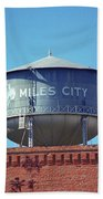 Miles City, Montana - Water Tower Bath Towel