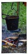 Military Revolutionary War Campfire Vertical Bath Towel