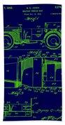 Military Vehicle Body Patent Drawing 1e Bath Towel
