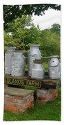 Milkcans Wiltshire England Bath Towel